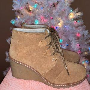 Tom 3in booties / wedges / heels size 6